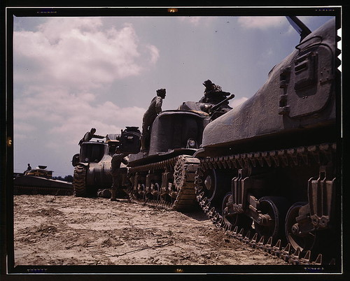 M-3 and M4 tank company at bivouac, Ft. Knox, Ky.  (LOC)