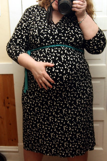 another belly shot, another maternity dress from Target (March 14th)