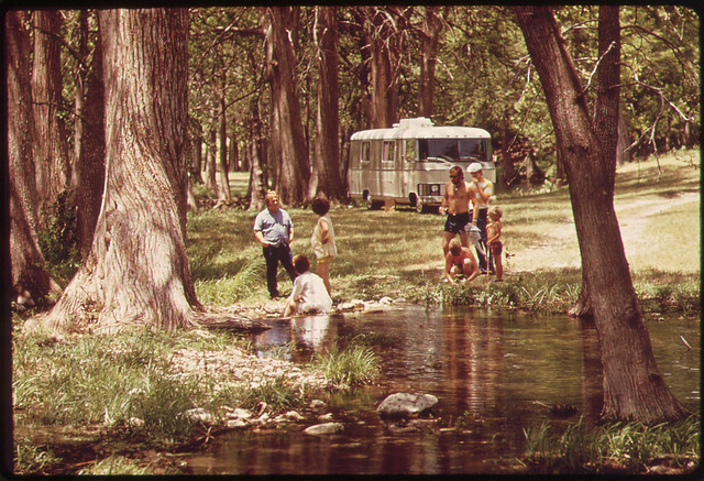 Camping beside the Rio Frio, 06/1972