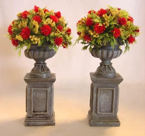Dollhouse Miniature Flowers In Pedestal Urns Explore Golde Flickr Photo Sharing