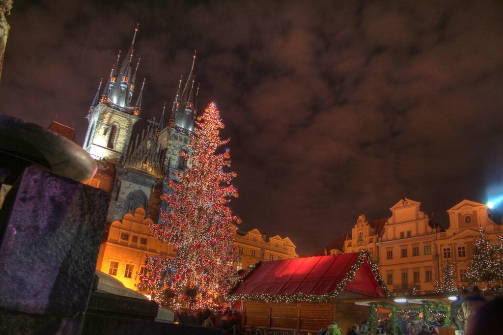 Prague Arbre de Noël HDR