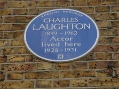 Photo of Charles Laughton blue plaque