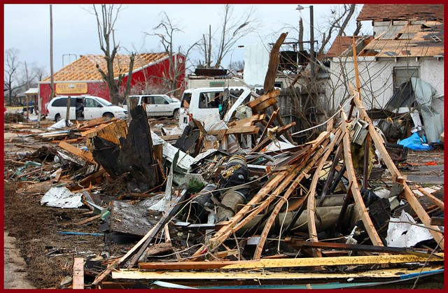 Gassville (AR) United States  city images : Gassville, hit last night by a tornado, place looks like a war zone