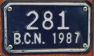 MEXICO, BAJA CALIFORNIA NORTE 1987 motorcycle plate