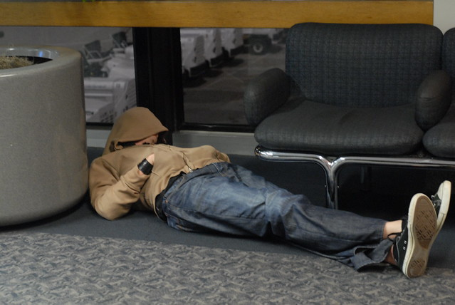 sleep in airport