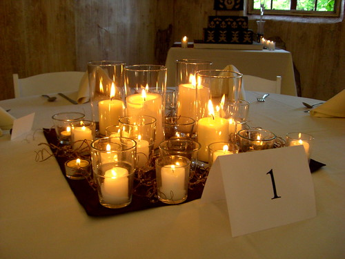 The dream wedding inspirations simple candle