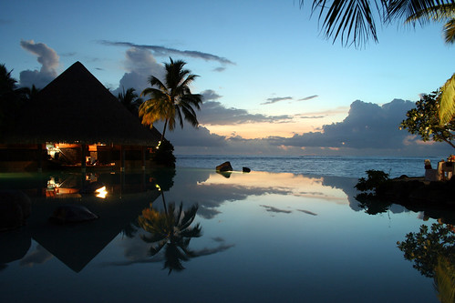 reflection tree pool night hotel evening amazing calm best palm serene tahiti poolbar hotelpool disappearingedgepool awesomehotelpool besthotelpoolbarever