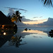 disappearing edge infinity pool at sunset with pool bar tahiti ©Duncan Rawlinson. Duncan.co