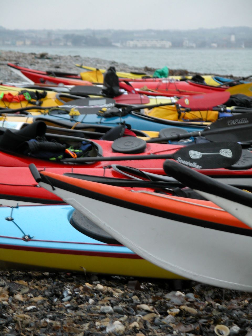 Boats on beach at Skerries