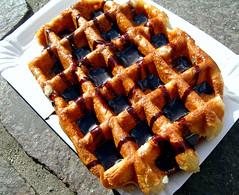 meal, breakfast, belgian waffle, food, dish, dessert, cuisine, waffle,