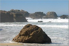beach, cape, sea, ocean, wind wave, wave, inlet, shore, coast, rock, cliff,