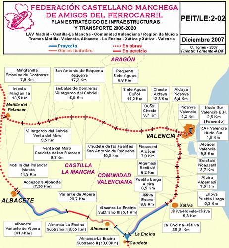 Mapa de los tamos de l nea av por almansa castilla la mancha - Plano de almansa ...