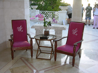 Barbados, Sandy Lane Luxury Resort, chairs