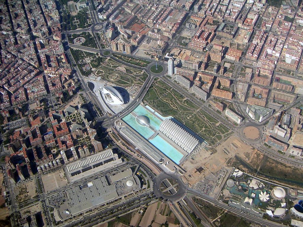 Ciudad de las Artes y de las Ciencias from the air
