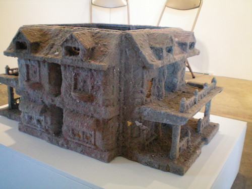 Felt House, made of felted dust bunnies