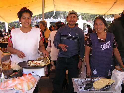 Olga, Oswaldo and Guadalupe at the Fair