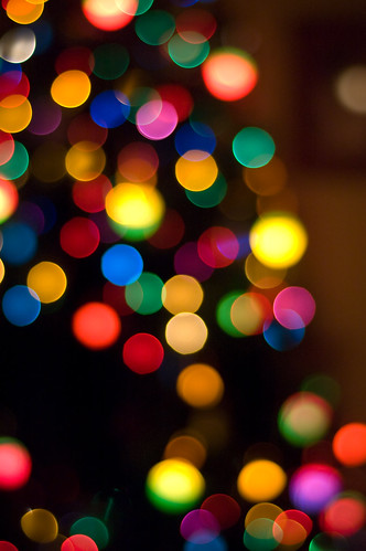 happy holiday bokeh