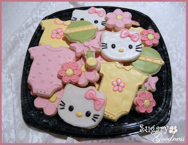 hello kitty baby shower cookie platter flickr photo sharing