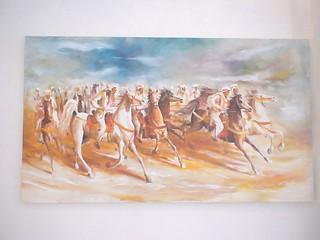Peinture tunisienne exposée dans un musée à Djerba