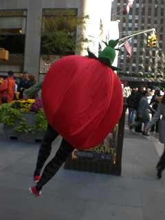 A tomato with a spring in her step