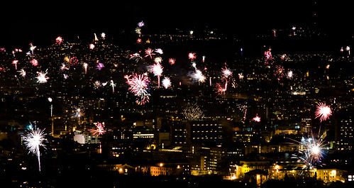 New Year fireworks in Oslo