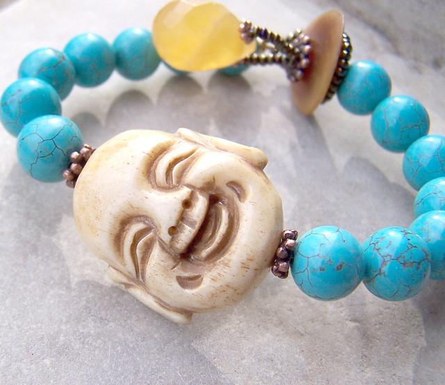 Happy Buddha & Turquoise