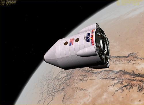 Mars lander from VASIMR Project