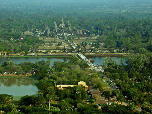 Angkor Wat from a hot air balloon