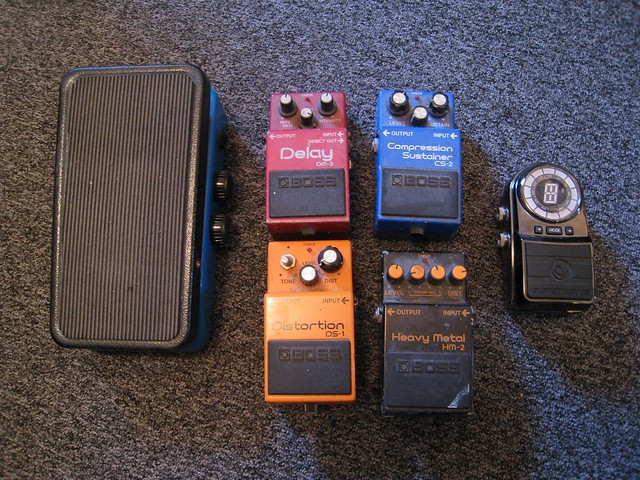 Photo:Guitar effects pedals By wetwebwork