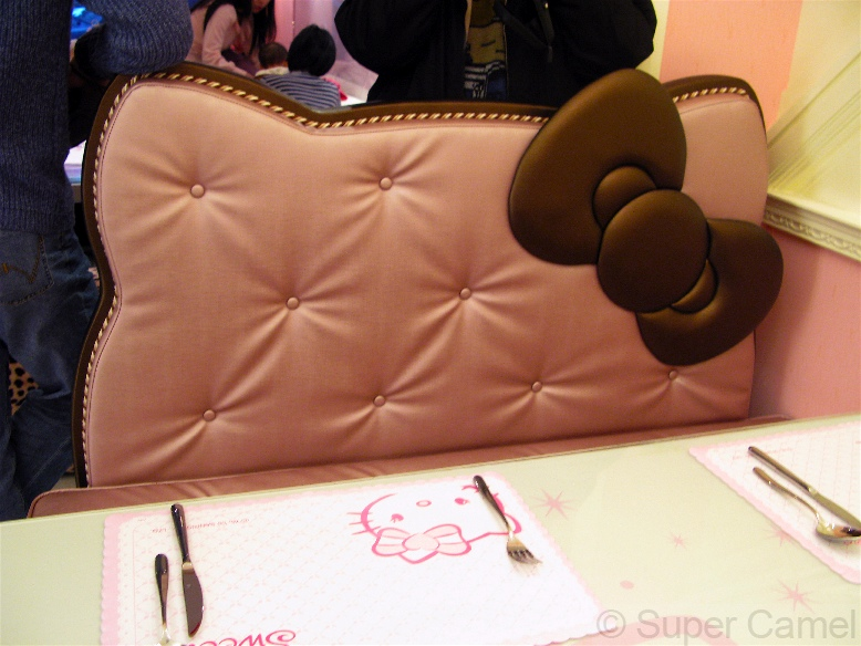 Hello Kitty Cafe Taipei Taiwan Padded seat