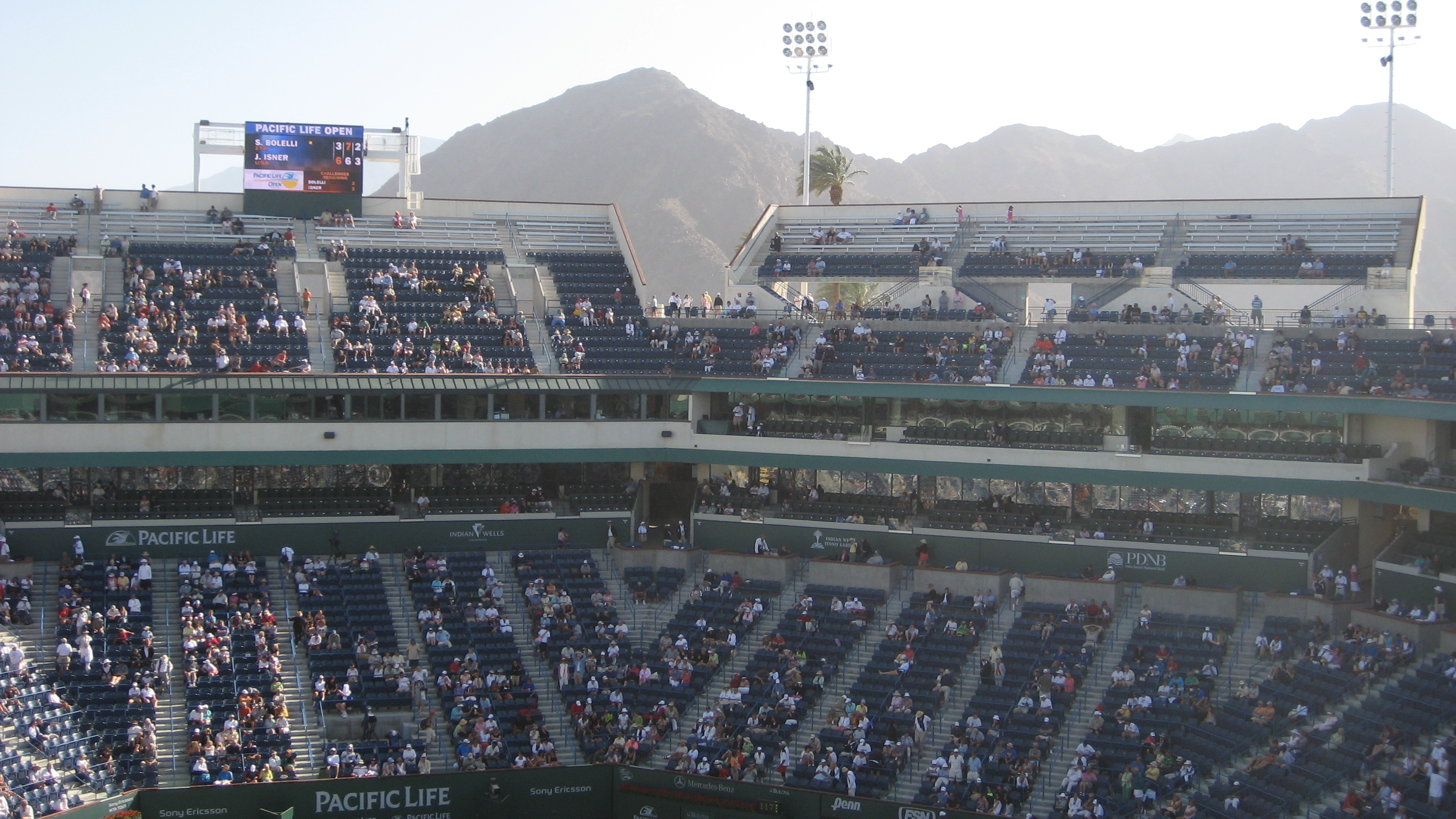 Stadium 1 A View Of The Mountains Behind The Indian Wells Flickr Photo Sharing