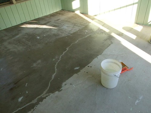 Cleaning stained concrete floors concrete floors clean for Mop for concrete floors
