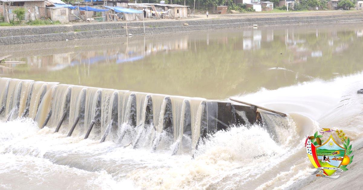 Retiro de la compuerta en la captación de agua potable tiene un 60% de avance