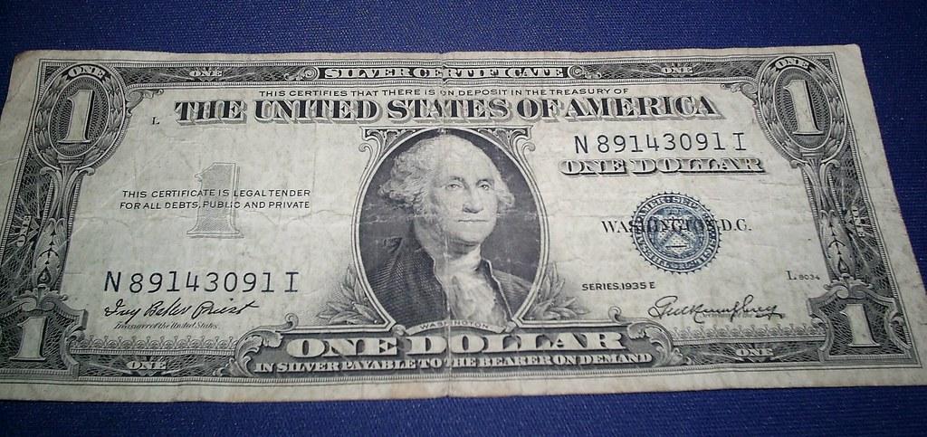 dollar certificate silver bill 1935 bills certificates secrets 1935e value values 1923 1881 coins peace