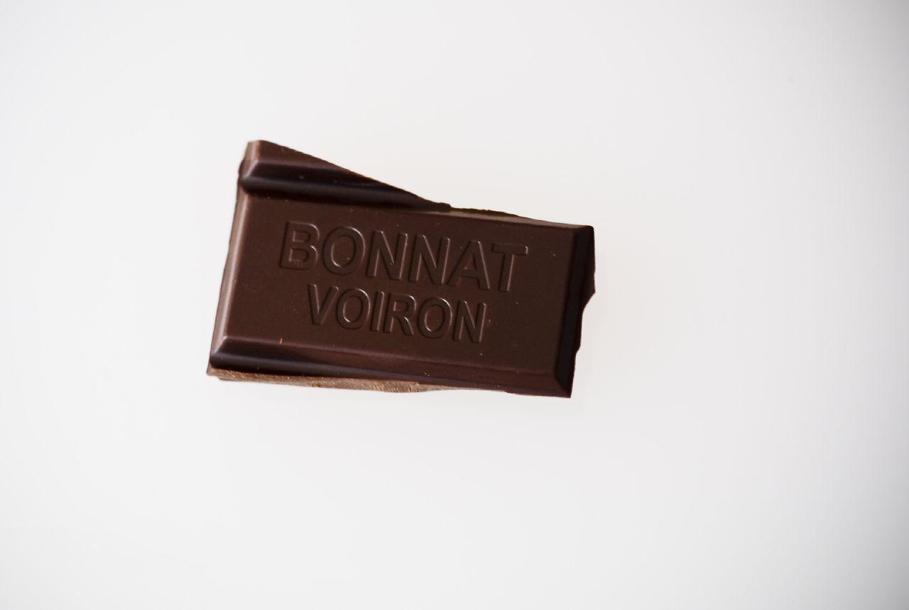Chocolat de Bonnat. The heart of a bar.