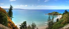 Canoe Beach Seascape Panorama