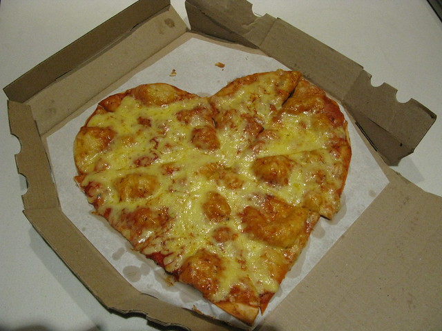 Every year I have to have a heart pizza