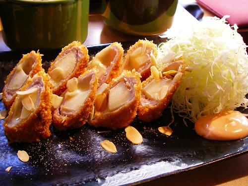 蘋果乳酪里脊肉豬排卷套餐