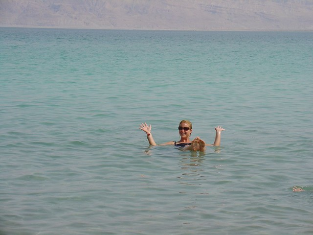 Dead Sea Floating no Hands by CC user amanderson on Flickr