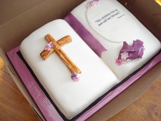 Bible Shaped Cake http://www.flickr.com/photos/cakesinct/2484486483/