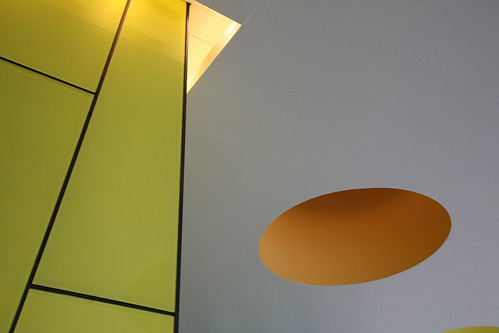 Ceiling Spots at Palestra House, London, designed by Will Alsop and Buro Happold