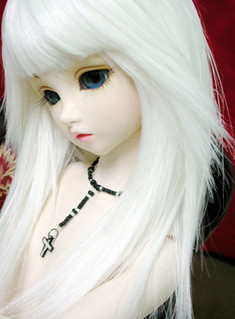 white hair doll