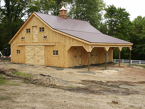 Modular horse barn mgc flickr photo sharing for Horse pole barn