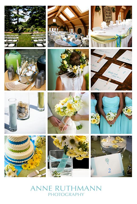 wedding bloomington indiana deer park manor turquoise aqua yellow cara sean