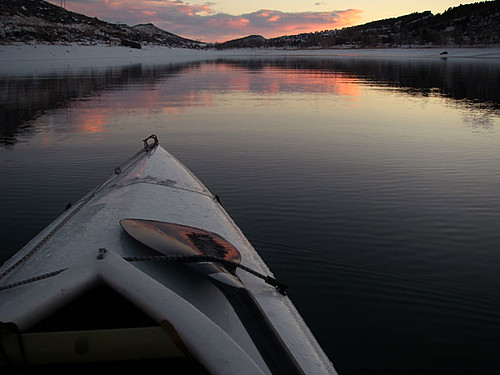 Horsetooth, Snow, Ice and Sea Wind Canoe