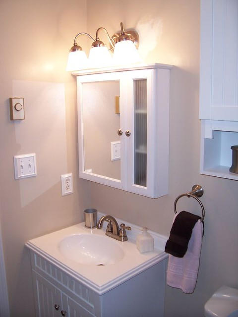Vanity Lights For Over Medicine Cabinet : Medicine cabinet/vanity/new light fixture Flickr - Photo Sharing!
