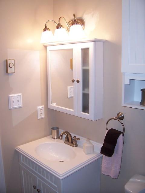 medicine cabinet vanity new light fixture flickr photo