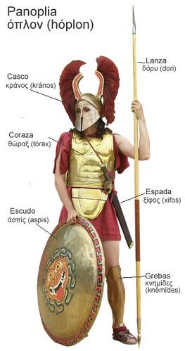 Ancient Greek Spartan Hoplite Soldier
