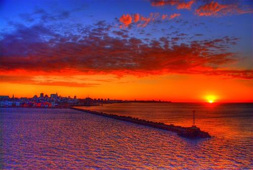 port sunrise uruguay harbor montevideo superbmasterpiece 200801