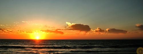 ocean sunset sea sky orange water yellow clouds pacific dusk horizon malecon mazatlan sinaloa olasaltas angelortega angelferd